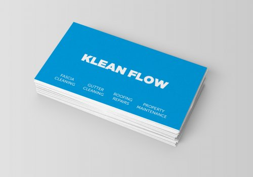 uncoated printed business cards